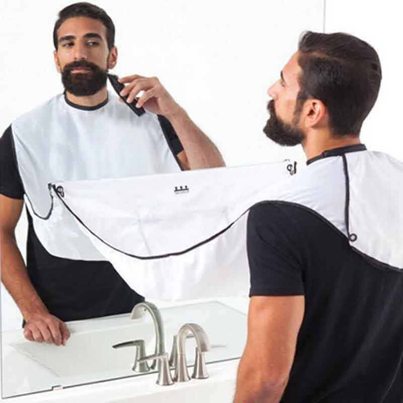 Pongee Male Beard Hairdressing Haircut Care Shave Apron Bib Trimmer Facial Hair Cape Sink Shaving Waterproof Barber Beard Aprons