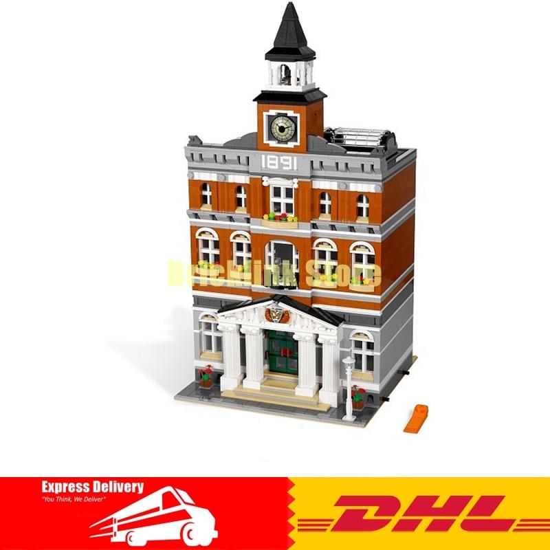 Здесь продается  2018 lepin 15003 new 2859Pcs The topwn hall Model Building Blocks Kid Toys Kits compatible 10224 Educational Children day Gift  Игрушки и Хобби