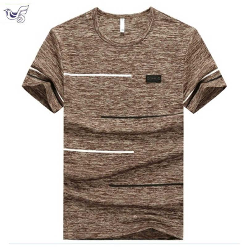 XIYOUNIAO, модная мужская футболка с коротким рукавом размера плюс 6XL 7XL 8XL 9XL, Повседневная быстросохнущая Мужская футболка цвета хаки, синего цвета, облегающая футболка в стиле хип-хоп