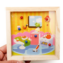 Maze Wooden Labyrinth Ball Maze Jigsaw Puzzles Childhood Educational Toys for Children Intellectual Games Labyrinth Puzzle Toys puzzles alatoys bb216 play children educational busy board toys for boys girls lace maze toywood
