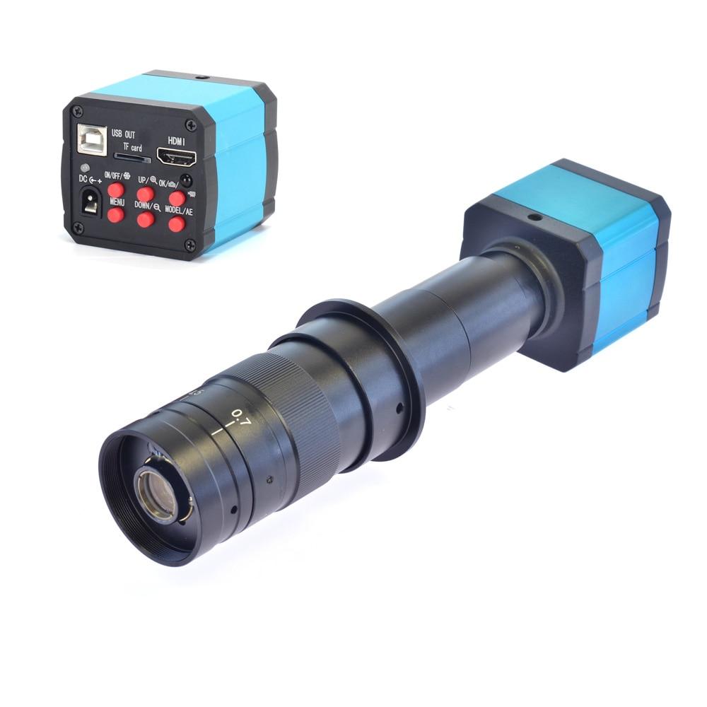 HD 14MP HDMI 1080P usb digital Industry Video Inspection Microscope Camera Set TF Card Video Recorder