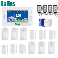 Stronger signal 868mhz Big Color Screen 7inch GSM Home Security Alarm System