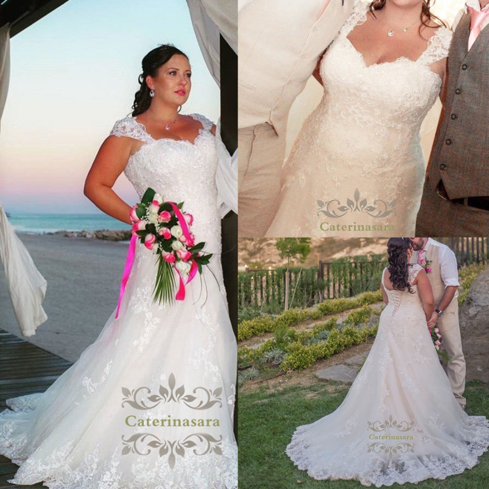 US $137.31 31% OFF|Outdoor Womens Mermaid Plus Size Wedding Dress  Sweetheart Bride Gown for Girl with Chapel Train Lace Fishtail with Fit and  Flare-in ...