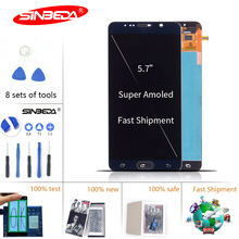 5.7Burn Shadow LCD for SAMSUNG Galaxy Note 5 Touch Screen Digitizer Note5 Display N920A N9200