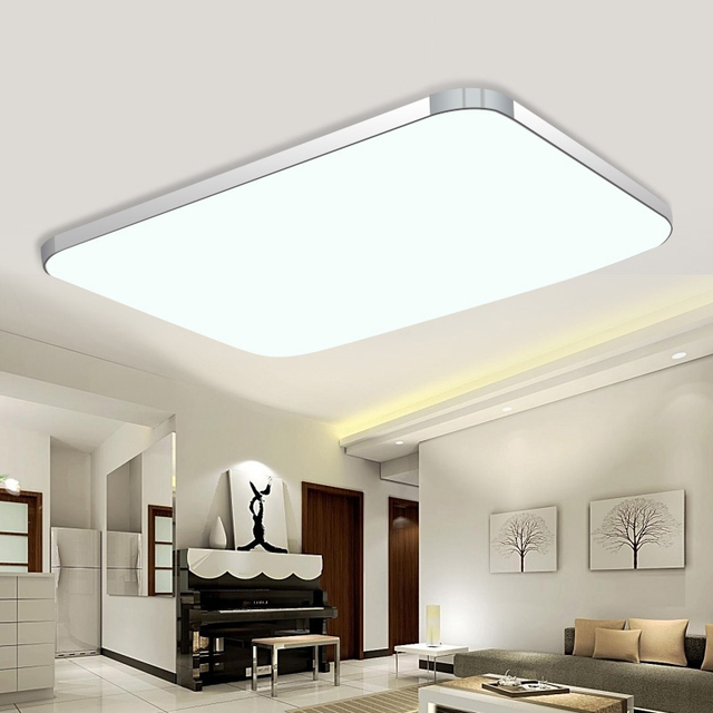 US $22.8 24% OFF|livingroom lamp ceiling light LED 36w 72w children Bedroom  ceiling lamps acryl lampshade for home illumination-in Ceiling Lights from  ...