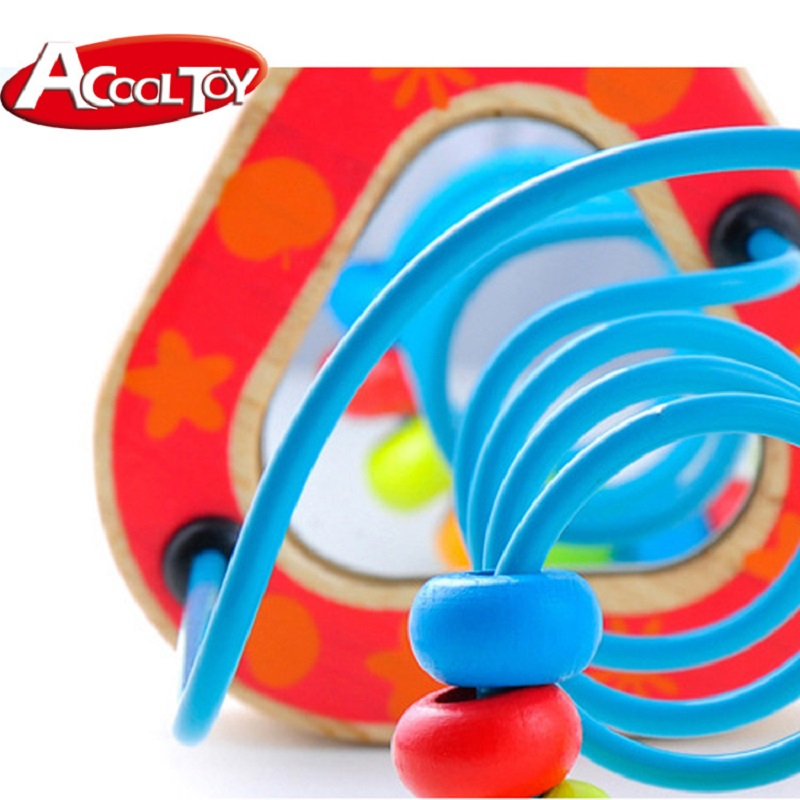 Puzzle Juguetes Colorful Wooden Toys Learning Wire Maze Counting ...