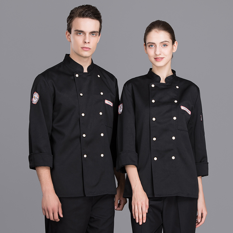 Newly Barkey Accessories Chef's Jackets Long-Sleeved Uniform Hotel Restaurant Kitchen Men Double-breasted Workwear Overalls