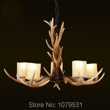 Europe Country 5 Heads French Retro Pendant Light Resin Deer Horn Antler Glass LampShade Home Decoration Lighting,E27 110-220V europe country 5 heads french retro pendant light resin deer horn antler glass lampshade home decoration lighting e27 110 220v