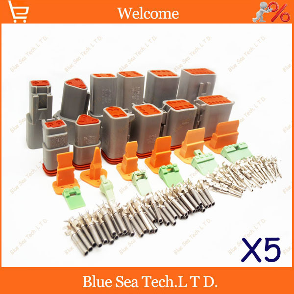 5 sets X 6 models Deutsch DT06/DT04 2/3/4/6/8/12 Pin Engine/Gearbox waterproof electrical connector for car,bus,motor,truck,etc. black 50 sets 4 pin dj3041y 1 6 11 21 deutsch connectors dt04 4p dt06 4s automobile waterproof wire electrical connector plug