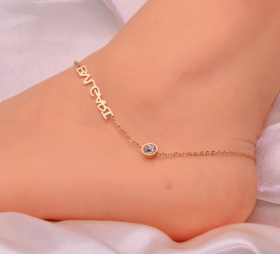 veluna anklet light herkimer of thread grande portal diamond products