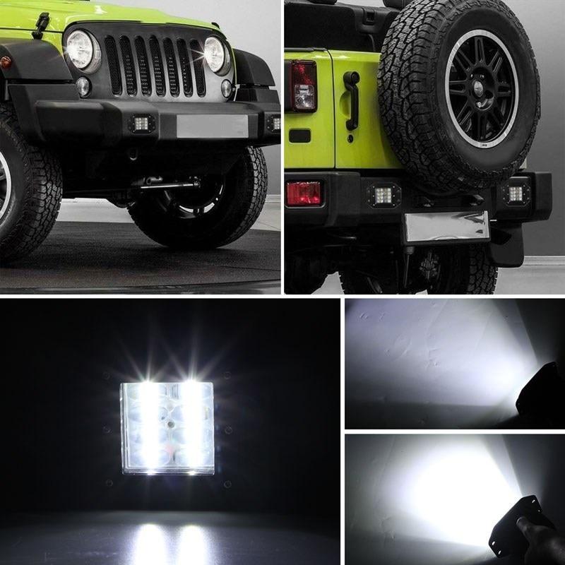 "Image 5 - CO LIGHT 80W Strobe LED Work Light 5"" Car styling Offroad Driving Light Bar Flood Beam Auto for SUV 4WD ATV Trucks Boat 12V 24V-in Light Bar/Work Light from Automobiles & Motorcycles"