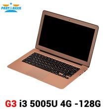 Partaker 13.3 inch Ultra Thin Laptop Notebook Computer with Broadwell i3 5005u Processor 2.0M FHD Camera HDMI Webcam