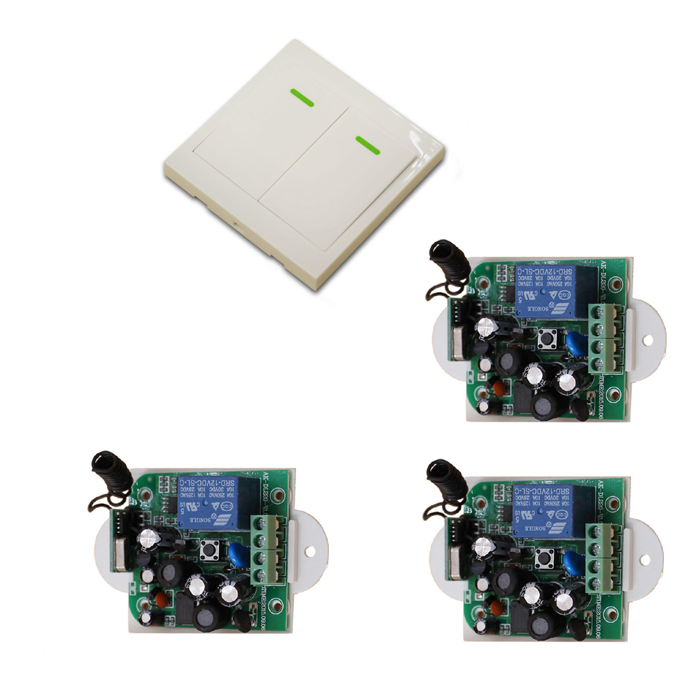 85V 110V 120V 220V 250V 1CH Radio Controller RF Wireless Relay Remote Control Switch 315 MHZ 433 MHZ 1Transmitter+3 Receiver New 2017 new digital remote control switch 220v wifi light schakelaar 4 way 110v 250v ac input 10a rf 433 92 mhz controler