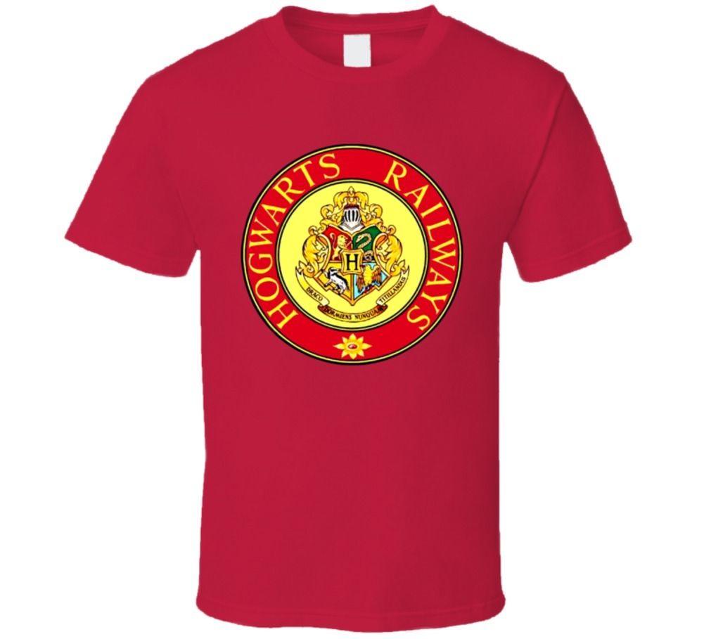 Magic Boy Hogwarts Railways Logo T Shirt Printed T-Shirt MenS Short Sleeve O-Neck T-Shirts Summer Stree Twear