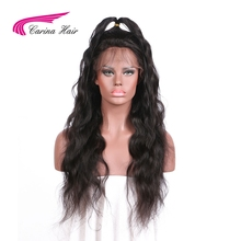 Carina 180% Density Peruvian Non-Remy Human Hair Lace Front Human Hair Wigs For Black Women Pre Plucked Hairline Natural Color