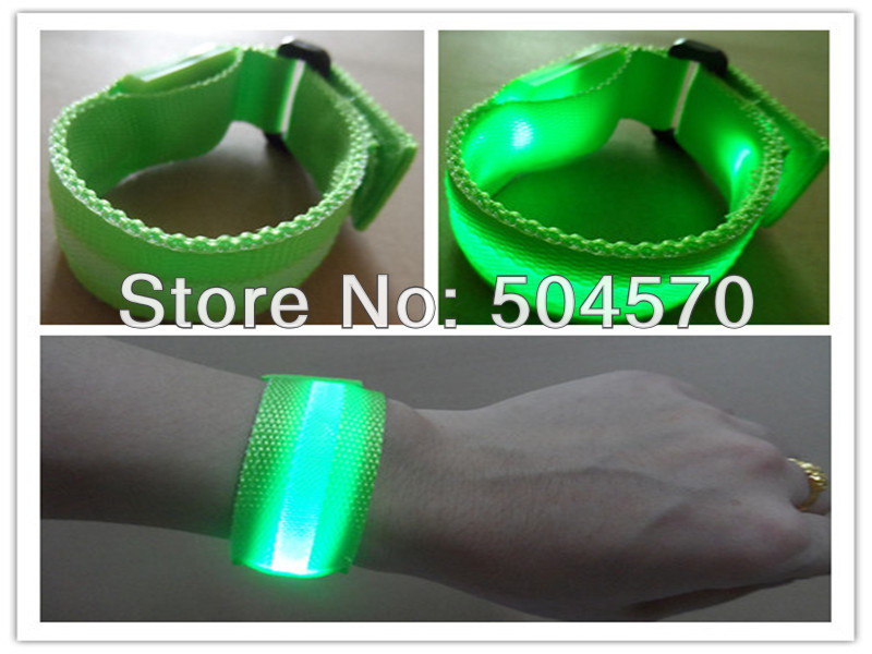 10pcs / lot 22cm najlon LED sportski ručni remen traka užaren - Za blagdane i zabave - Foto 6