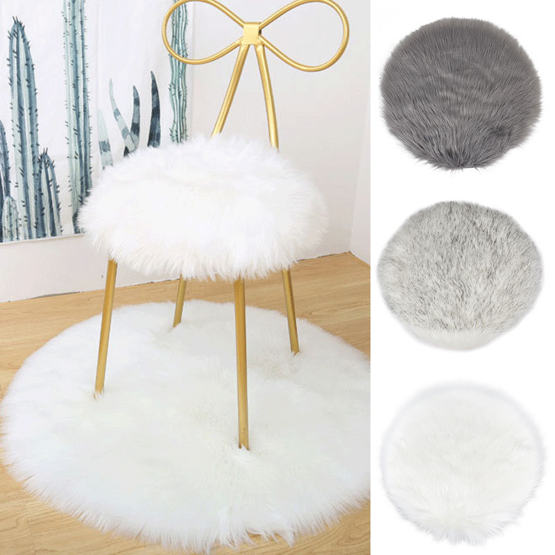 30/40CM Soft Small Artificial Sheepskin Rug Chair Cover Bedroom Xmas Mat Artificial Wool Warm Hairy Carpet Seat Fur Area Rugs