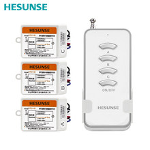 Free shipping Y-F211B 1004W 1N3 Wireless 3 Way 433mhz Light Lamp 220V Wireless Remote Control Learning Code With 3 Receivers