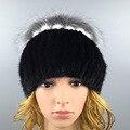 2016 Зимние Шапочки Hat для Женщин Симпатичные Новинка Твердые норка Мех Горячей Продажи Норки Мода меха женские шляпа