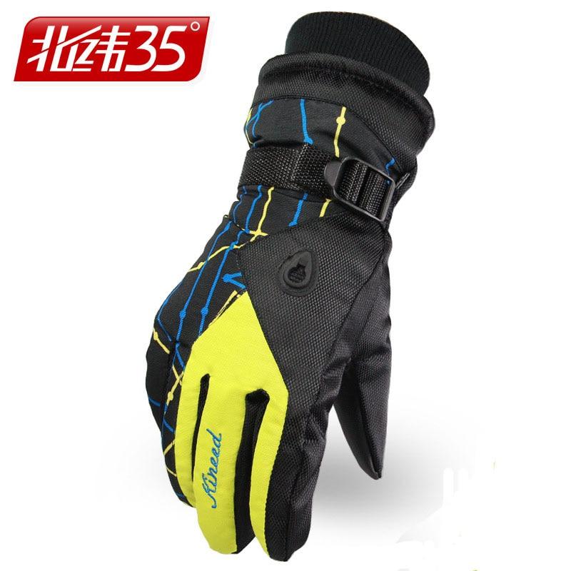Warm Windproof Waterproof Ski Gloves Men Women Skiing
