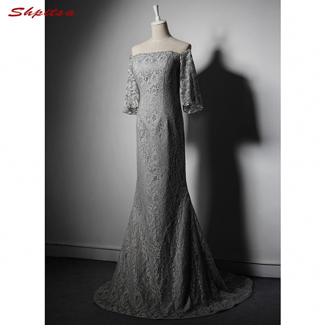 Silver Grey Lace Mermaid Mother of the Bride Dresses for Weddings ...