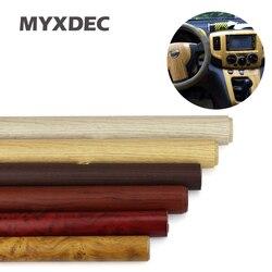 122*30CM samoprzylepne winylu drewna ziarna teksturowane Car Wrap samochodów wewnętrzne naklejki tapety meble z drewna ziarna papieru Film na
