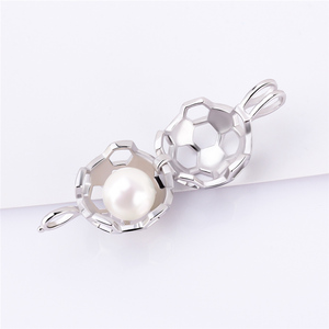 Image 3 - CLUCI 3pcs 925 Sterling Silver Soccer Ball Pendant Women Jewelry Gift Real Silver 925 Soccer Shaped Pearl Cage Locket SC373SB