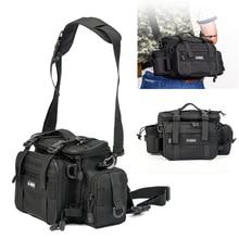 LEO Multifunctional Waterproof Oxford ClothOutdoor Fishing Bag Waist Shoulder Messenger Tackle