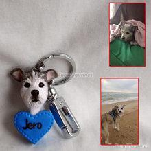 wedding Birthday cake topper dog handmade figurine from photo Unique gift keyring keychain with cat bird deer