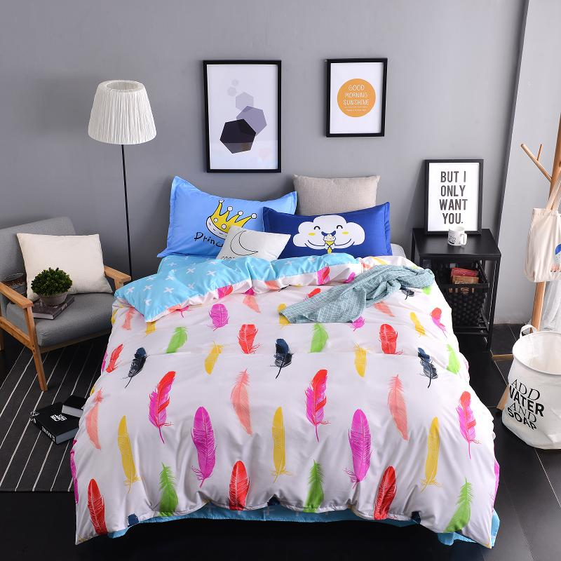 Online get cheap printed flat sheet for New duvet covers 2017