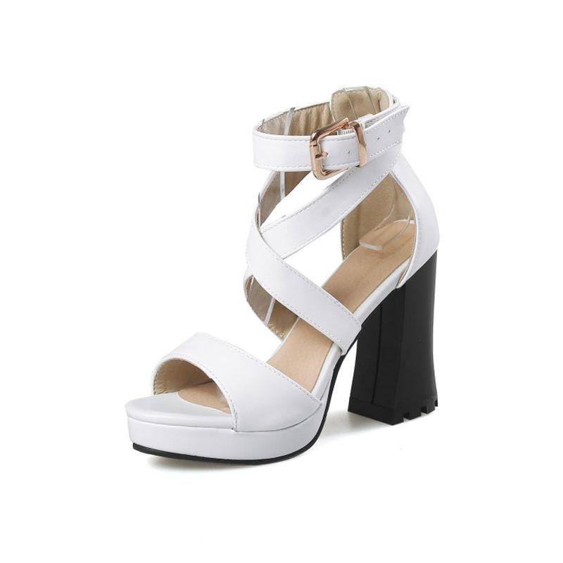Mode Élégante Blxqpyt Grande Talons jaune Chaussures Pompe Petite Bout CmDe T8675 D'été 32 50 À Taille Parti Sandales Ouvert Hauts11 blanc Vente Mariage Femme Noir HEID29