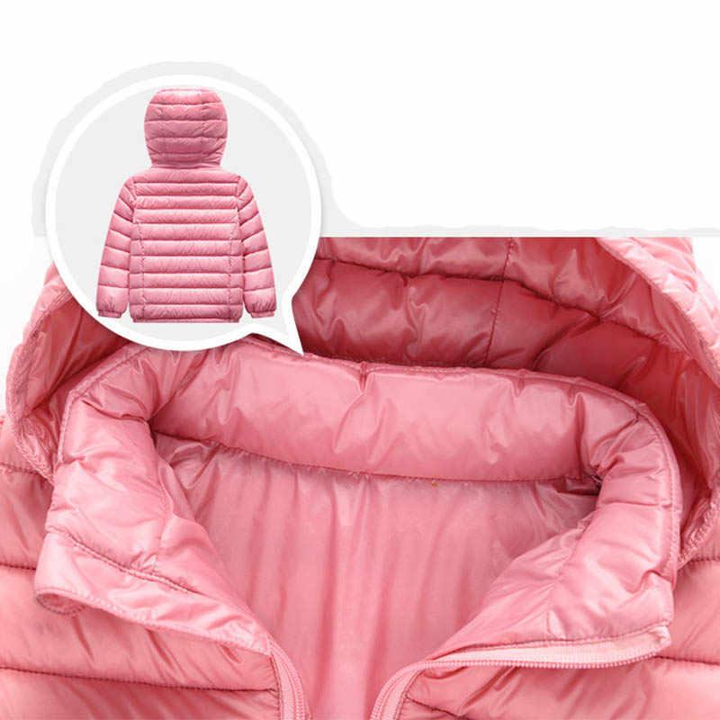 ילדי מעיל הלבשה עליונה ילד ילדה סתיו חם למטה סלעית מעיל בגיל ההתבגרות ילדי דובון חורף מעיל Size2-13 שנים