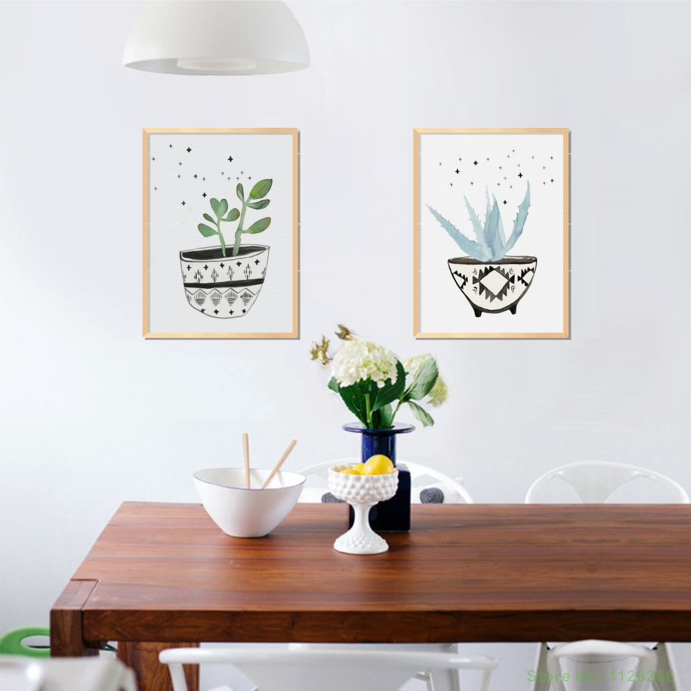 Potted Plants Paintings on the Wall Modular Wall Paintings Poster ...