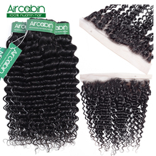 Peruvian Deep Wave Bundles With Frontal Ear To Ear Lace Frontal With Bundles Peruvian Human Hair Bundles With Closure NonRemy