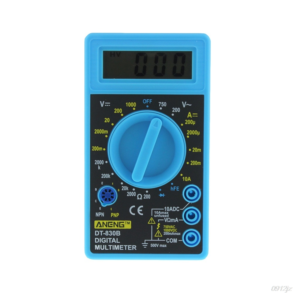 DT-830B Multimeter LCD Auto Range Digital Voltmeter Ohmmeter Volt Tester Tools uni t ut90d auto range digital multimeter dmm amp volt ohmmeter w frequency