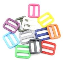 """10 шт. """"(25 мм) цветные пластиковые трехскользящие слайдеры регулируемые пряжки застежки для рюкзаков ремни сумка кошка собака Ошейник DIY аксессуары"""