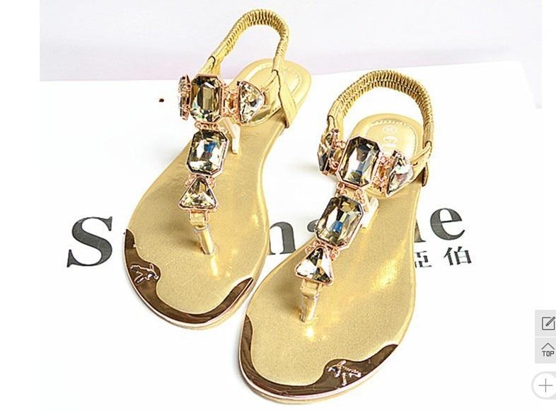 Oro Del 938 Gladiador Moda Verano 2015 Zip 1 Planos Las De Oro Estilo Sandalias Zapatos blanco Mujeres Blanco Flops Flip SUdqd