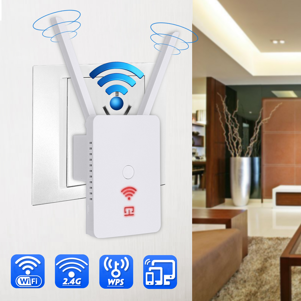 300Mbps Wifi Repeater Wireless 2.4G Wifi Network Mini Range Extender 3 in 1 WiFi Signal Amplifier