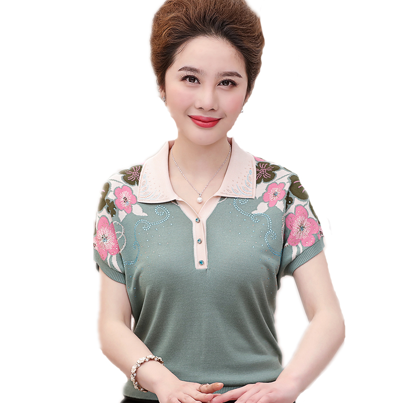 2019 Summer Women T Shirt 50 Fabulous Ladies 50th Birthday: 2019 New Mother Summer Short Sleeved 40 50 Middle Aged And