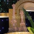 Remessa livre/10 pcs/pacotes/Candelabro central Torres Eiffel/suporte de vela de cristal