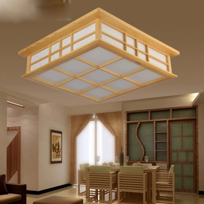 Japanese Imported Wood Crafted Ceiling Lamp Led Strip Ceiling Light for Study Room Bedroom 20W indoor lighting art simple lamp