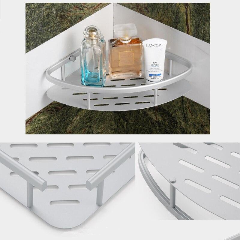 US $8.92 15% OFF|Bad Regale Badezimmer Regal Dusche Ecke Regal Bad Zubehör  Dusche Rack Regal Schicht Wand montiert Douche Bad Rack-in Badezimmerregale  ...