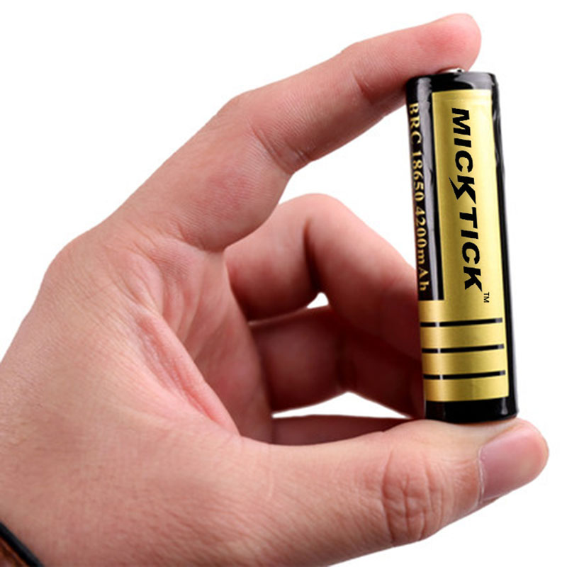2PCS <font><b>3.7V</b></font> 18650 <font><b>4200mAh</b></font> <font><b>Battery</b></font> <font><b>batteries</b></font> batteria MICKTICK lithium Li Ion Rechargeable Large Capacity T6 Flashlight source image