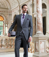Custom Made men suit for wedding tuxedo long tail suit three piece suits prom 2018 formal mens suits (Jacket+Pants+Vest)