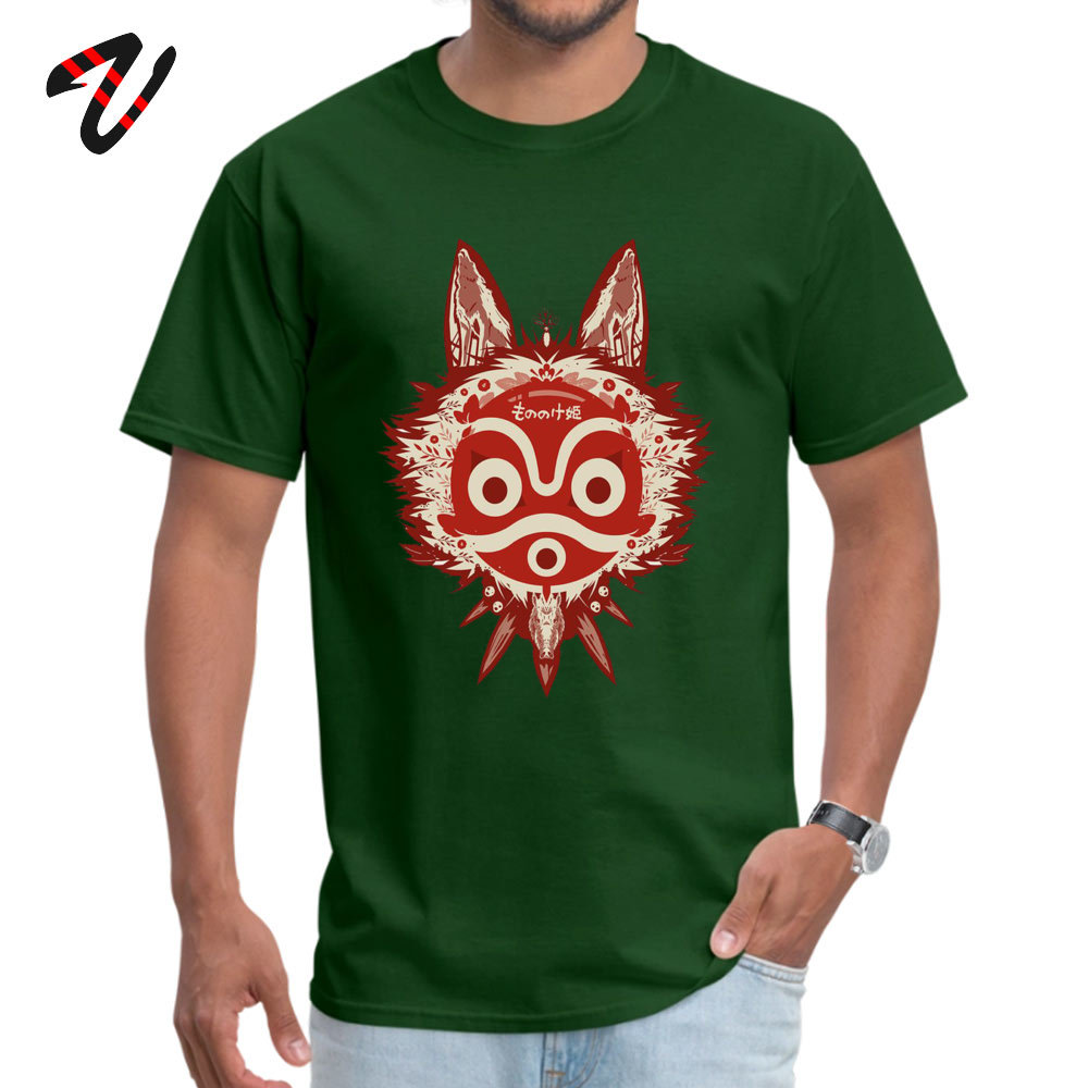 T Shirt Mononoke T-shirts Thanksgiving Day Company Design Short Sleeve Cotton Crewneck Mens T Shirts Design Drop Shipping Mononoke1907051146 dark