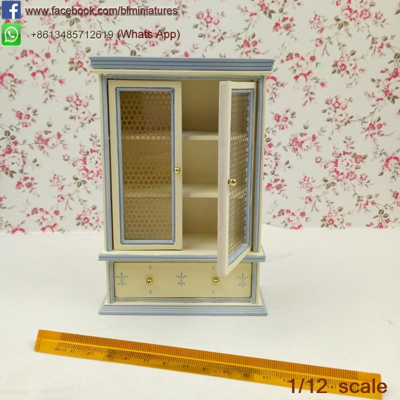 Vitrina Con Estante escala 1.12 casa de muñecas en miniatura Muebles
