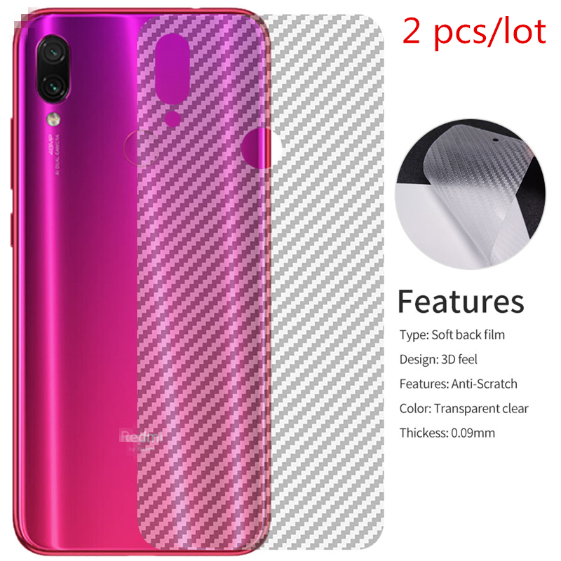 2pcs/lot Clear 3D Carbon Fiber For Xiaomi Pocophone F1 Mi 8 Lite 9 Se Redmi Note 5 6 7 Pro 6 6A Back Protector Film Cover Case(China)