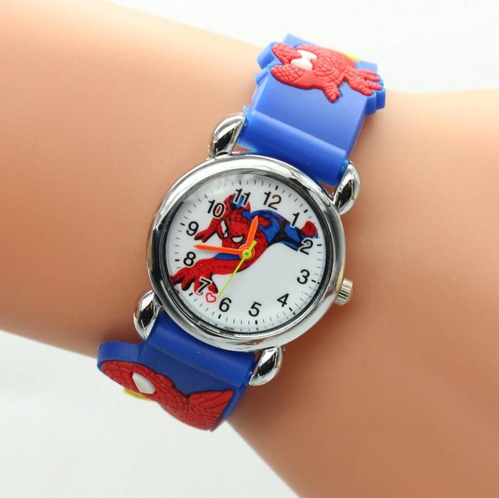 Children's Watches New Fashion Spiderman Watches Children Watch Women Cute Cartoon Watch Kids Cool Quartz Watch Relogio Clock Hour Gift
