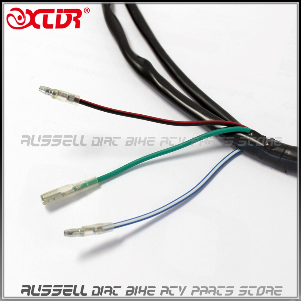 Pit bike Cable Wiring Harness Loom 50cc 90 110 125cc 140cc 150cc Kick Start Starter pit bike cable wiring harness loom 50cc 90 110 125cc 140cc 150cc wiring harness loom at bayanpartner.co