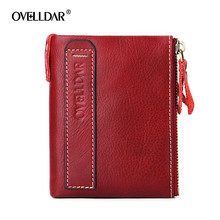 Women Wallet Oil Wax Cowhide Genuine Leather Wallets Coin Purse Clutch Hasp Open Top Quality Retro Short Wallet fashion 343 стоимость
